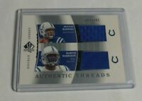 R8473 - PEYTON MANNING / HARRISON - 2003 SP AUTHENTIC - DUAL JERSEY - #54/345 -