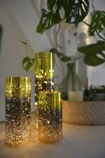 Glass Cylinder - Battery Operated Light Ornament - 2 Sizes Available