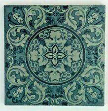 Antique Josiah Wedgwood  Floral & Geometric Flower Victorian Tile c: 1880's