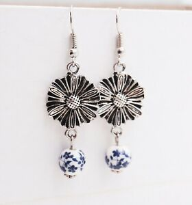 Daisy Beaded Earrings - Free Shipping
