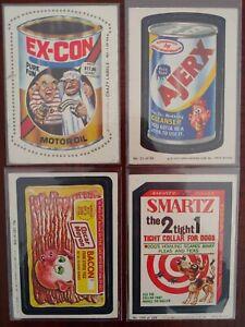 1979-80 TOPPS WACKY PACKS/FLEER CRAZY LABELS MIXED LOT OF 4) # 1/32, 21,182 &195