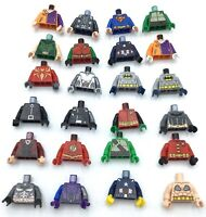LEGO LOT OF 24 SUPER HERO TORSO PIECES CAPTAIN AMERICA BATMAN ROBIN BODY PARTS