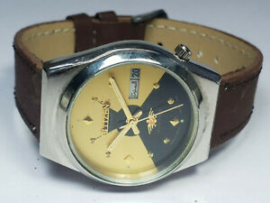 Vintage Citizen Analog Two Tone Dial Mechanical Automatic Wrist Watch WU210 F