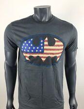 DC Comic Batman Originals T-Shirt USA Flag Authentic Rare