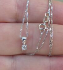 Beautiful diamond solitaire pendant on a white gold chain