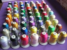 63 frère Couleurs Polyester Machine Broderie Threads 1000 M 120D/2 40 WT
