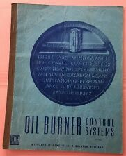 JE144 Vintage Oil Burner Control Systems Manual Honeywell Regulator Company