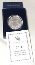2011 American Silver Eagle Uncirculated with original box and COA