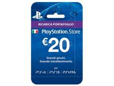 SONY PSN HANGING CARD 20 EURO PLAYSTATION NETWORK - CARDS/DLC