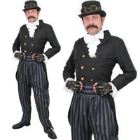 ADULT DELUXE STEAMPUNK COSTUME MENS VICTORIAN STEAM PUNK COSPLAY FANCY DRESS