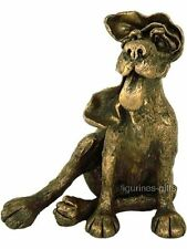 RUSTY Bronzed Dog With Attitude Frith Sculpture by Harriet Dunn