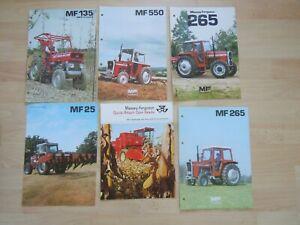 @Massey Ferguson Tractor Specification Sheets x 6- MF 265,550,135 Vineyard@