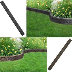 Primeur Flexi Curve Flower Garden Edging Scroll Border Earth Grass Patio 9X122Cm