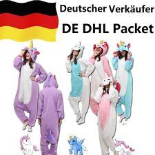 Einhorn Pyjamas Kostüm Jumpsuit Tier Schlafanzug Erwachsene Unisex Fasching DHL