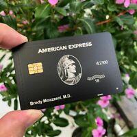 American Express Black Centurion Metal Card Customize Personality