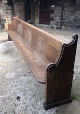 More details for vintage solid oak church pew for spares