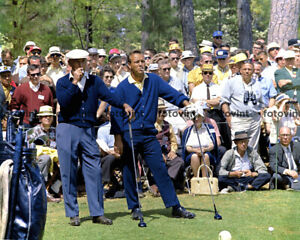 BEN HOGAN & ARNOLD PALMER Photo 1966 MASTERS Golf Smoking Print 8x10 11x14 16x20