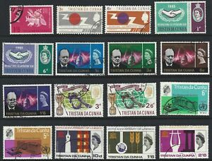 TRISTAN DA CUNHA 1963/70 QEII Commemorative Issues (36) CTO