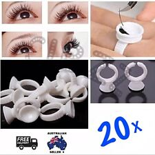 20x False Eyelash Glue Rings Extensions Holder Pallet Finger Tool Disposable