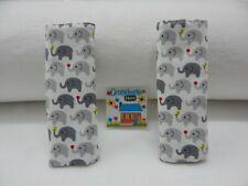 Seat Belt Covers Tiny Grey Elephants Child Car Seat Highchair Pram Stroller