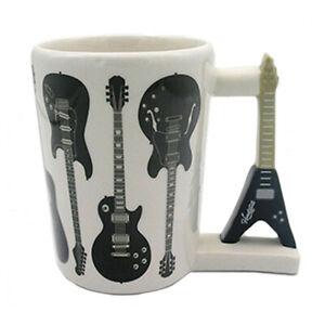 HEADSTOCK GUITAR ROCK GUITAR SHAPED HANDLE CERAMIC MUG COFFEE CUP NEW IN BOX