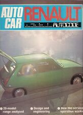 Renault 1976 Autocode Supplement UK Market Brochure 4 5 6 12 16 15 17 30