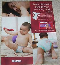 2006 advertising - Huggies Supreme natural fit hugflex diapers Baby Boy PRINT AD
