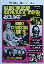RECORD COLLECTOR MAGAZINE - Issue 82 June 1986 - Springsteen / Stevie Wonder