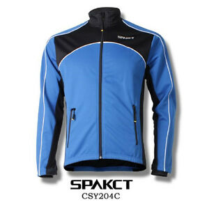 Spakct Fleece Thermal Jersey Cycling Jacket Blue X-Large Sun Protective CSY204C