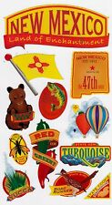 **NEW MEXICO** Sticko Stickers  - 12 pieces - Scrapbooking/Cards - Theme: Travel