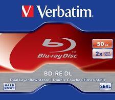 2 Verbatim Rohlinge Blu-ray BD-RE Dual Layer 50GB 2x Jewelcase