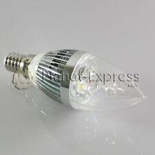 Bombilla 3W LED E14 Vela Blanco Calido Color Plata 220V 240 lumen euiv.25W 30W