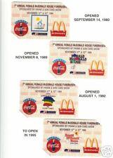 McDonald's Coca-Cola Frank & Son #1 phonecards set of 4
