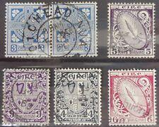 IRLANDE, LOT DE 6 TIMBRES 1923/24 OBLITERES