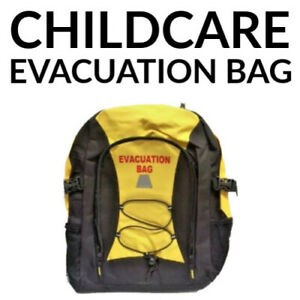 100+ ITEMS CHILDCARE EVACUATION BAG OHS FIRST AID KIT BABYSITTING DAY CARE