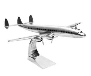 Lockheed Constellation aus Metall Holz Flugzeug Modellbau Modellflugzeug mit Fuß