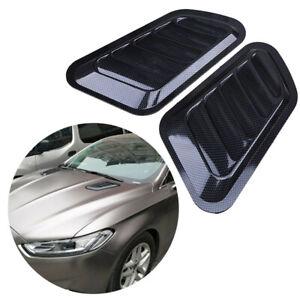 Auto Car Decorative Air Flow Intake Scoop Bonnet Side Fender Vent Hood Universal