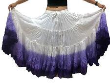 "3 Colour 25 Yard Cotton Tribal Skirt  ATS Belly Dance Dancing 36/37"""