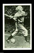 1920 Baseball Hilborn Novelty Postcard Uncle Sam Can't Strike Him Out