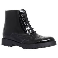 NEW KURT GEIGER CARVELA BLACK PATENT ANKLE BOOTS.... UK 5  EU 38