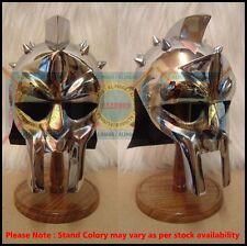 Mini Gladiator Maximus Helmet and Stand - Perfect Medieval / Viking Display Item