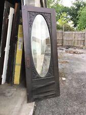 Mar 219 antique Beveled Oval entrance door gingerbread 32 x 83.75