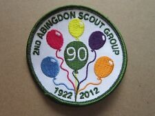 2nd Abingdon Group 90 Years Cloth Patch Badge Boy Scouts Scouting L3K D