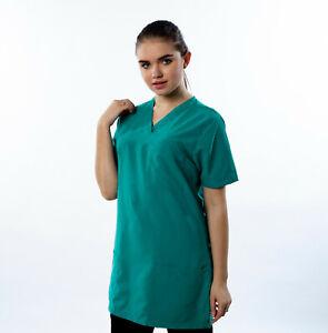 Scrub Tunic. Ashdan M137. Hospital, Medical Uniforms. Comfort fit. 12 Colours