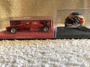 2 Minichamps 1/43 Michael Schumacher F1 Cars - Ferrari 1998 with Chrome Helmet