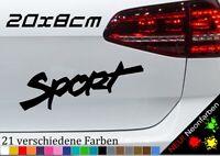 Sport Schriftzug Sticker Decal Tuning Wettkampf Auto Car Vinyl JDM Sporty 20x8cm