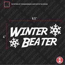 2X WINTER BEATER car sticker decal vinyl