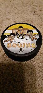 Boston Bruins Holiday Hockey Puck Gingerbread Men NHL Rare