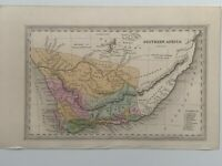 1834 SOUTH AFRICA HAND COLOURED ORIGINAL ANTIQUE MAP BY CARY & LEA 186 YEARS OLD