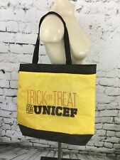 """Trick Or Treat For UNICEF Tote Bag Yellow Black 16"""" X 15"""""""